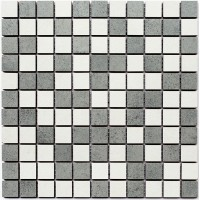 Мозаїка Kotto Keramika Cm 3030 C2 Grey/White 300x300